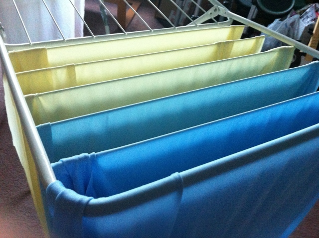 Dying Fabric Rainbow